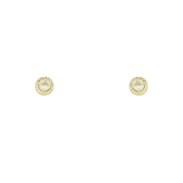 Brinco Zircônia Lesprit U17K060191 Dourado Cristal