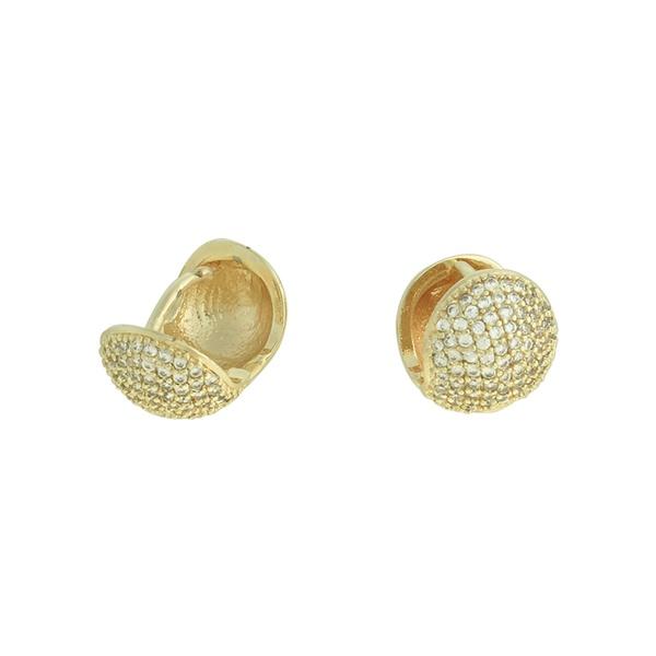 Brinco Argola Zircônia Lesprit U18K080471 Dourado Cristal