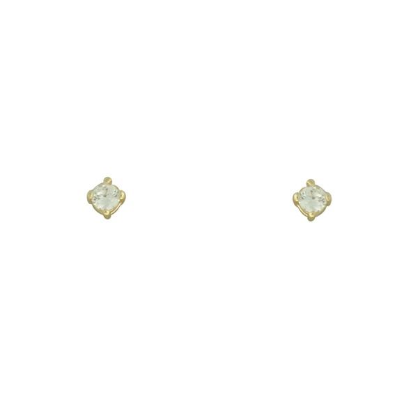 Brinco Solitário Zircônia Lesprit U11A111621 Dourado Cristal
