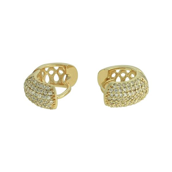 Brinco Argola Zircônia Lesprit U18K070181 Dourado Cristal