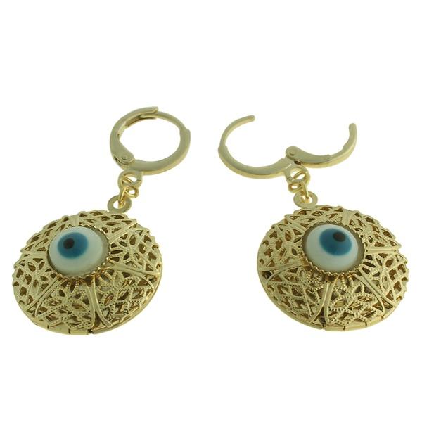 Brinco Metal Olho Grego Lesprit 2141 Dourado