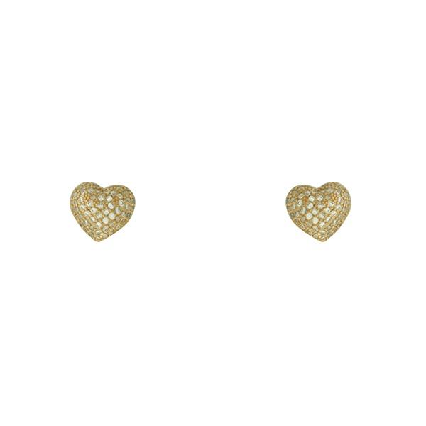 Brinco Zircônia Lesprit LB20401WGL Dourado Cristal