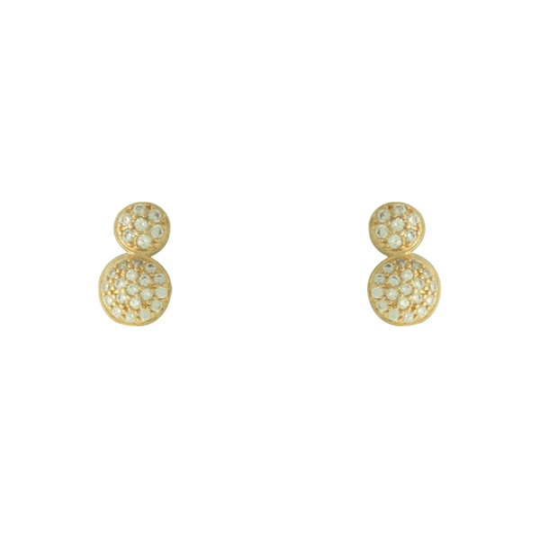 Brinco Zircônia Lesprit LB20561WGL Dourado Cristal