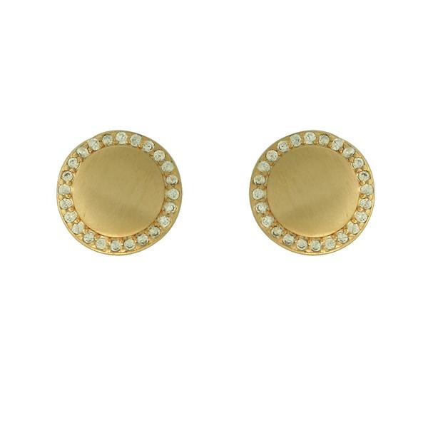 Brinco Zircônia Lesprit LB23581WGL Dourado Cristal