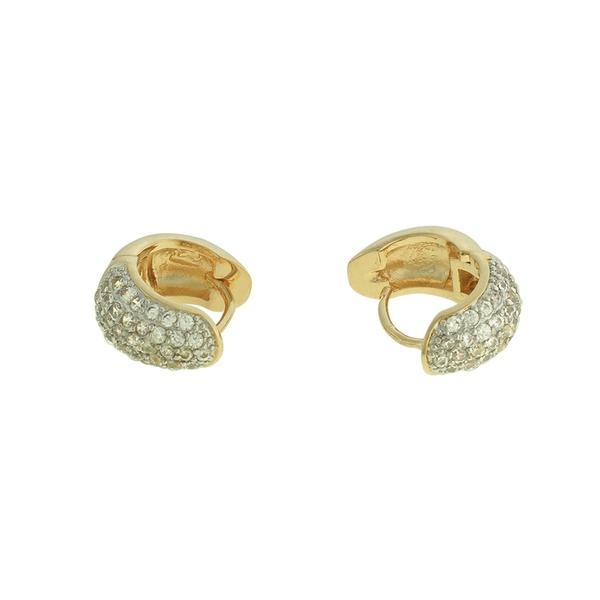 Brinco Argola Zircônia Lesprit LB01421WRHGL Dourado Cristal
