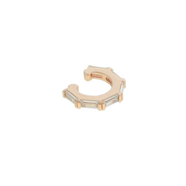 Brinco Piercing de Pressão Zircônia Lesprit LB22791WRS Rosé Cristal