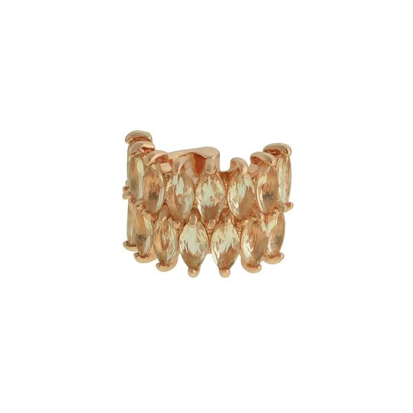 Brinco Piercing de Pressão Zircônia Lesprit LB23041 Rosé Morganita