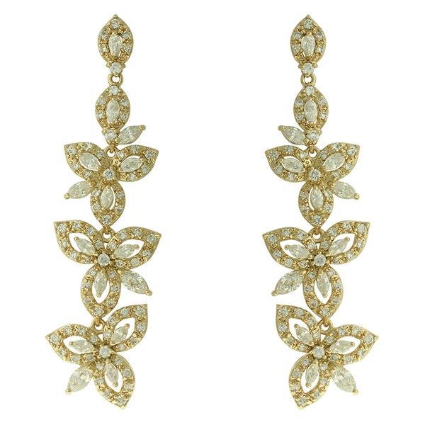 Brinco Zircônia Lesprit NB01361 Dourado Cristal