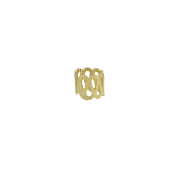 Brinco Piercing de Pressão Metal Lesprit 59732 Dourado