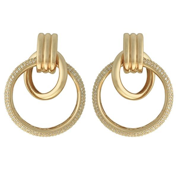 Brinco Elos Zircônia Lesprit 60101401 Dourado Cristal