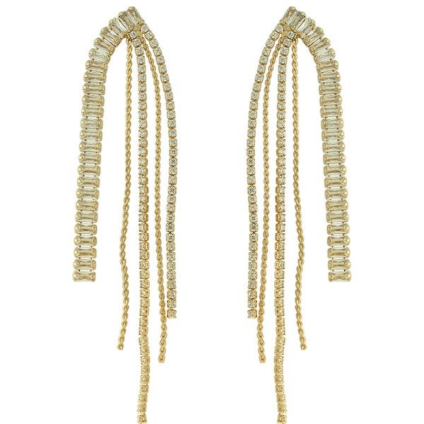 Brinco Zircônia Lesprit 68114781 Dourado Cristal