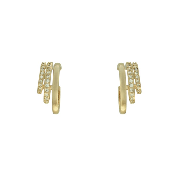 Brinco Zircônia Lesprit 68120831 Dourado Cristal