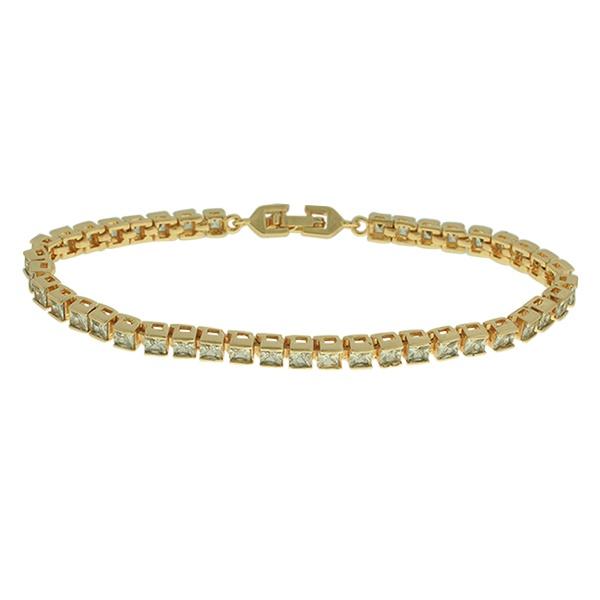 Pulseira Riviera Zirconia Lesprit U17K110011 Dourado Cristal