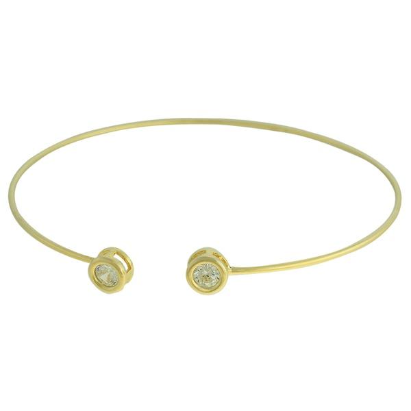 Pulseira Zircônia Lesprit 3961 Dourado Cristal