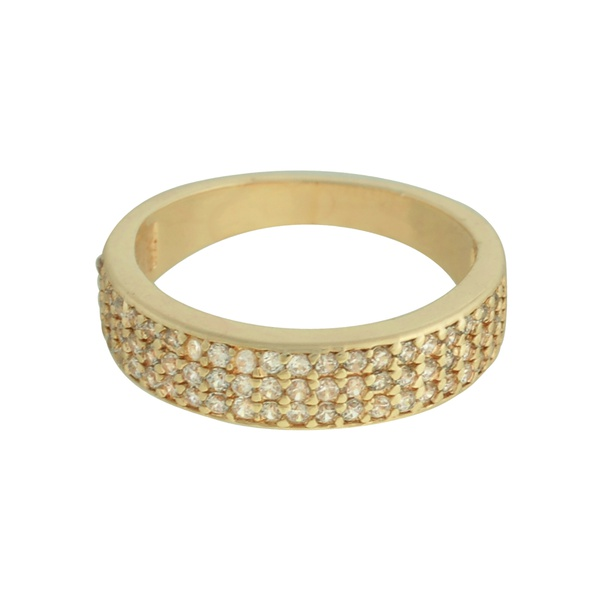 Anel Zircônia Lesprit U18K080211 Dourado Cristal