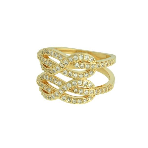 Anel Zircônia Lesprit LA07241WGL Dourado Cristal