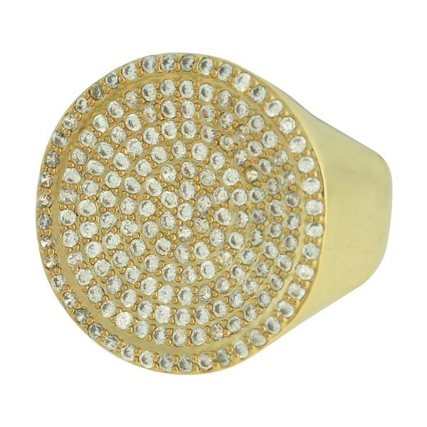 Anel Zircônia Lesprit LA10091 Dourado Cristal