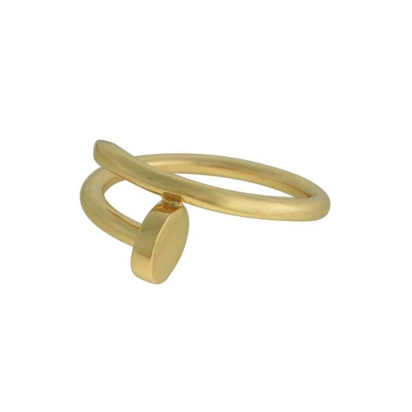 Anel Prego Liso Metal Lesprit 60100131 Dourado
