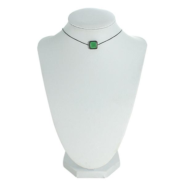 Colar Choker Zircônia Lesprit LC03081 Ródio Negro Verde Leitosa