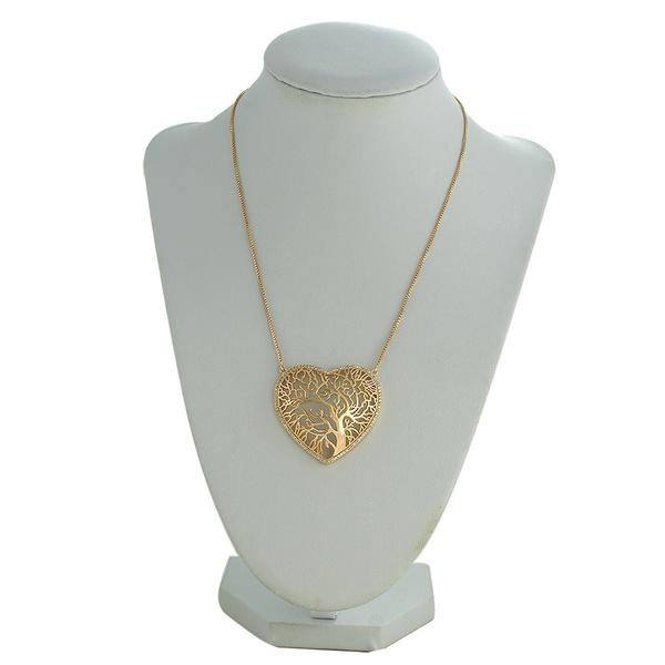 Colar Arvore da Vida Zircônia Lesprit 60095721 Dourado Cristal