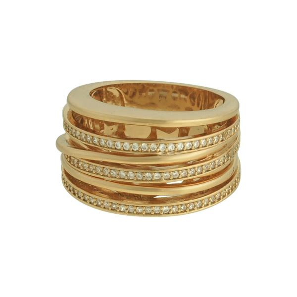 Anel Zircônia Lesprit 60101611 Dourado Cristal