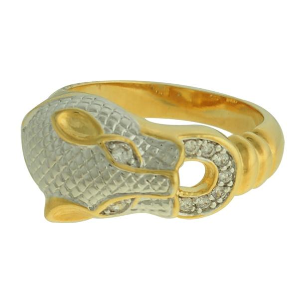 Anel Zircônia Lesprit DAE8741 Dourado Cristal