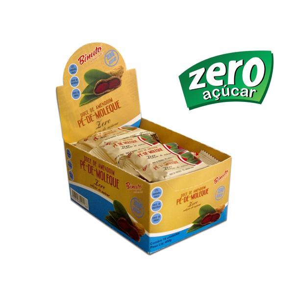 Pé de Moleque sem Açúcar diet Kit 5 caixas com 16 unidades cada