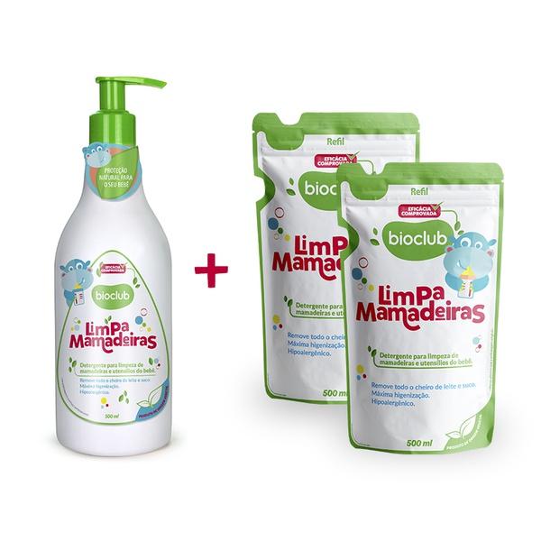 Limpa mamadeiras + dois refis Limpa Mamadeiras bioclub