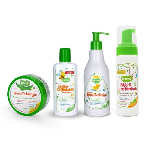 Kit Amor de Mãe - Higienizador Perfume Sabonete Hidratante Bioclub