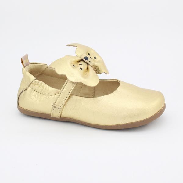 Sapatilha Infantil Feminina Monique - Metalizado Dourado