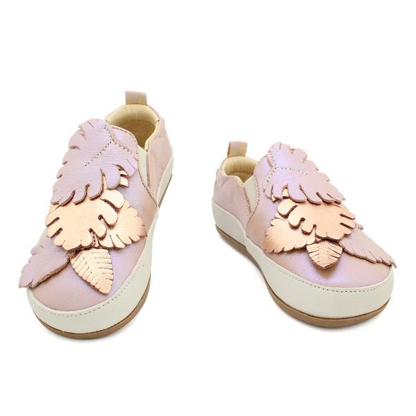 Tênis Slip On Infantil Feminino Blenda - Furta Cor/ Rose Gold