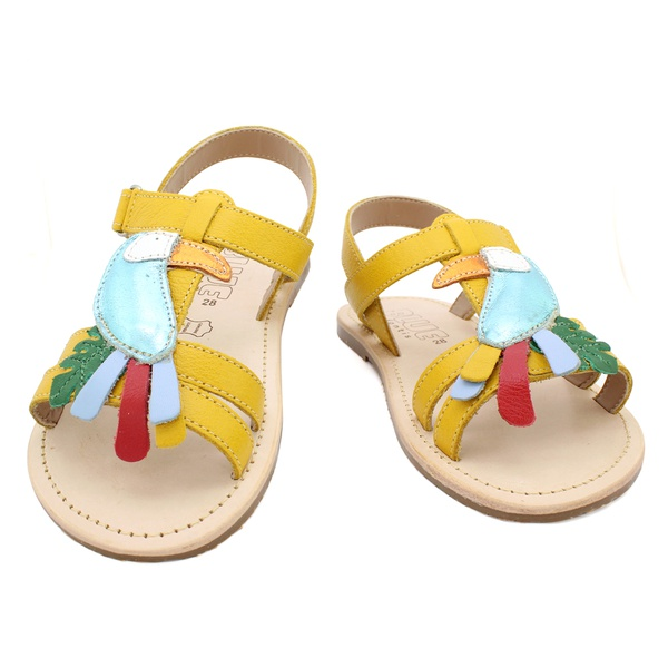 Sandália Infantil Feminino Dandara - Amarelo
