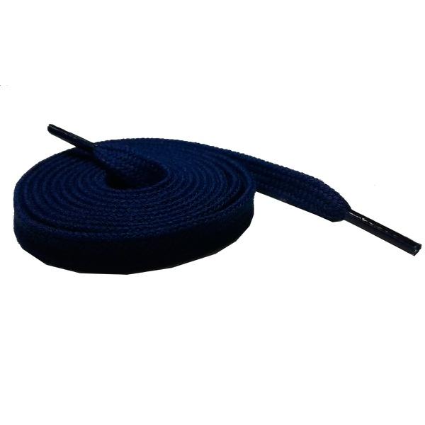 Cadarço Chato Algodão De 1,40 Cm e 10 Milímetros de Largura Azul Marinho