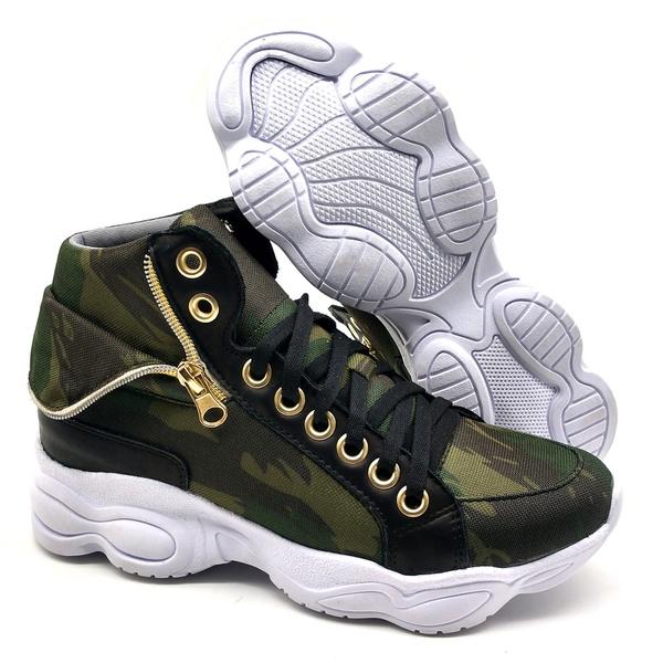 Tenis Dad Chunky Sneaker Feminina Bm Brasil 250/01 Camuflado