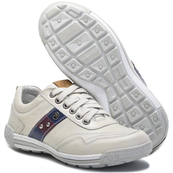 Sapato Masculino Casual Ortopédico Porshe Alanta 132/05 Gelo