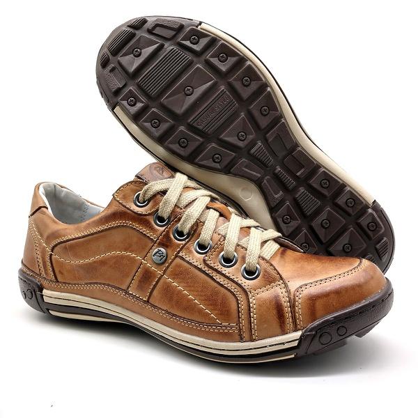 Sapato Masculino Casual Porshe Palmilha Ortopédica 147/01 Caramelo