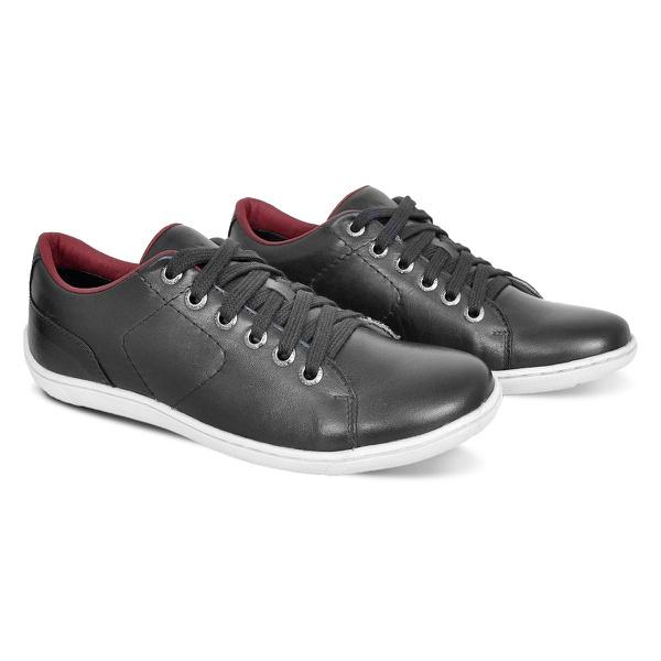 Sapato Casual De Couro Bm Brasil 770/02 Preto