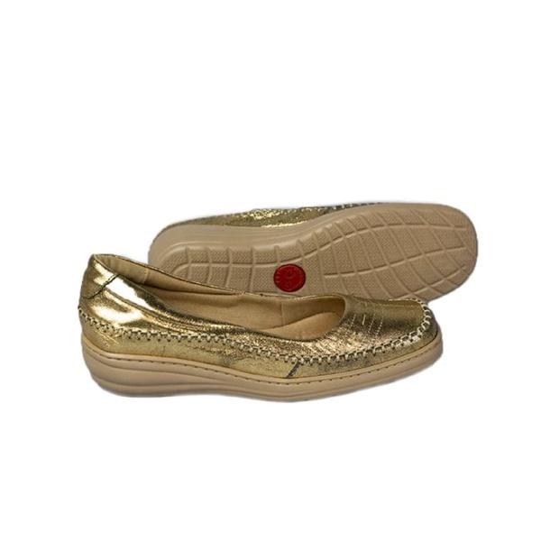 Mocassim Feminino Sapato Casual Couro 5913 Bronze