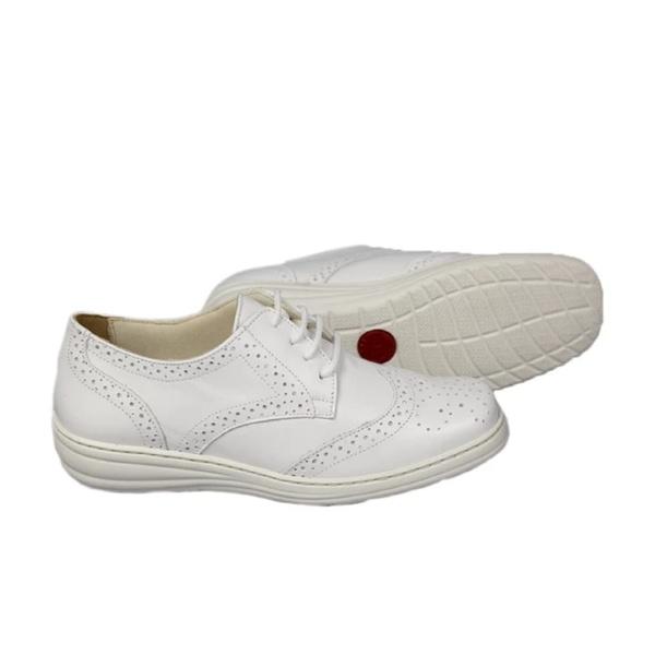 Mocassim Feminino Sapato Casual Couro 5936 Branco