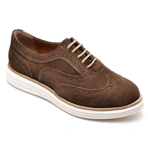 Sapato Oxford Plataforma Feminino Couro Nobuck 300 Rato