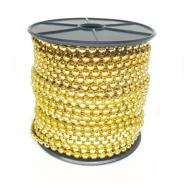 Corrente Royal 5x5mm, Banho Ouro.