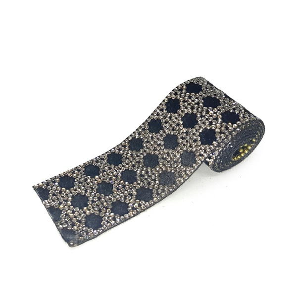 Tira De Strass Black Diamond - Velvet, 40x3,5cm.