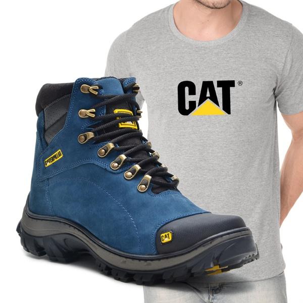 Bota 2160 - Azul + Camiseta Cinza