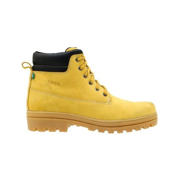 Coturno Couro Nobuck 256 Amarelo