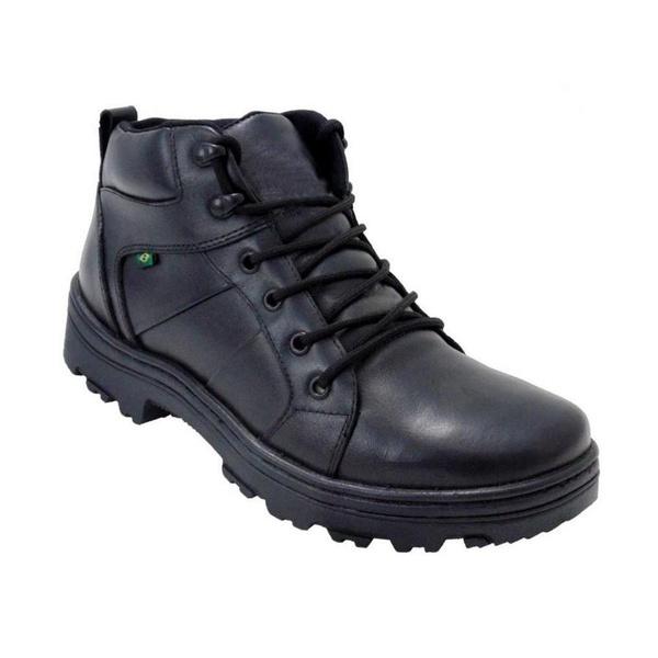 Coturno Militar Em Couro Atron Shoes 272