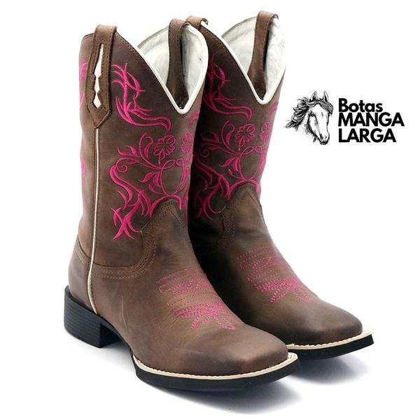 Bota Feminina Texana Country Bordada