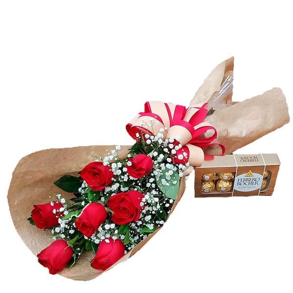 Ramalhete 9 Rosas e Ferrero