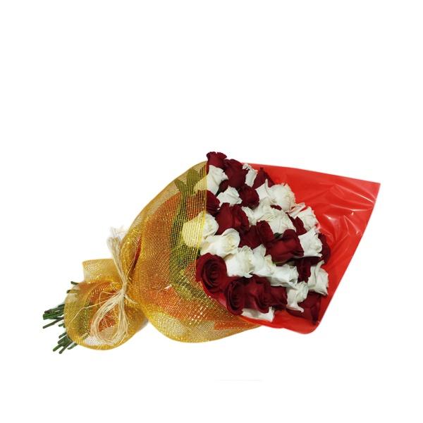 Buquê 36 rosas luxo