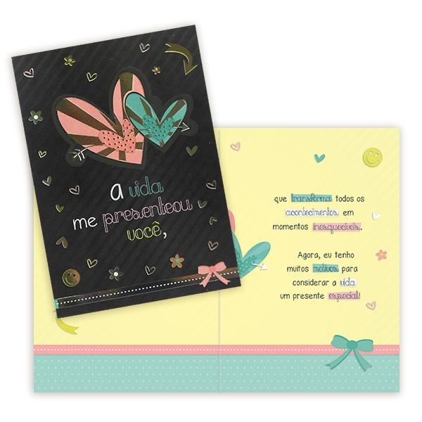 Cartão a Vida me Presenteou Você
