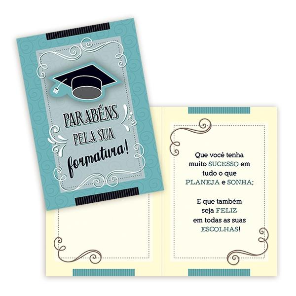 Cartão Parabéns pela Formatura